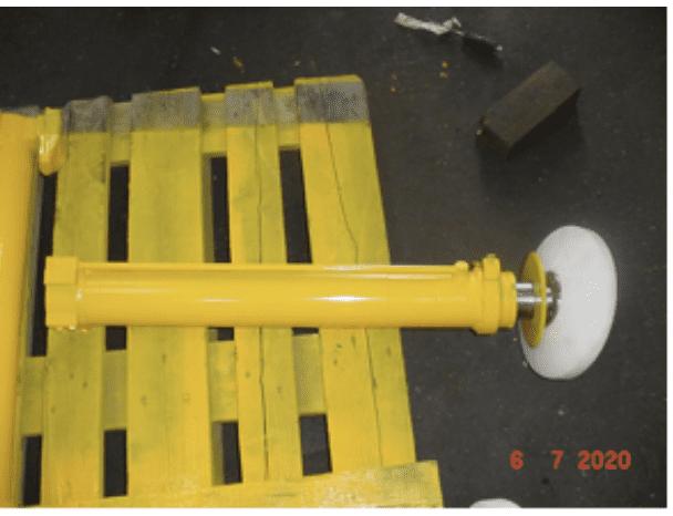 Einbaufertiger Stützzylinder mit Stützteller im Austausch für Wumag WT 220 und WT260
